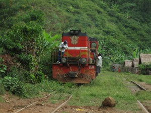 Zugfahrt in Madagaskar