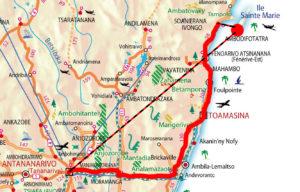Karte Ostküste_Andasibe_Ile Sainte Marie