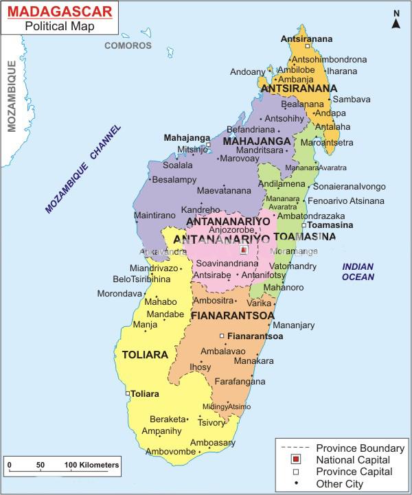Madagaskar Provinzen