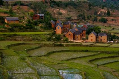 Dorf Madagaskar Hochland