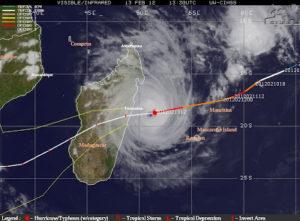 Zyklon über Madagaskar