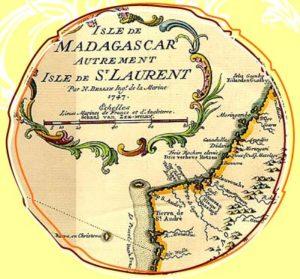 Madagaskar Karte 1747