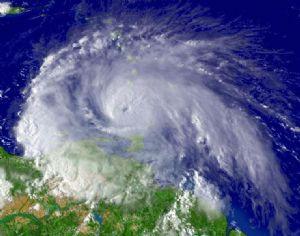 Zyklon vor der Insel