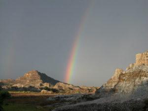 Regenbogen auf der Insel