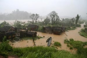 nach dem Zyklon in Madagaskar
