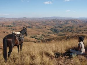 Reiten auf dem Hochland in Madagaskar
