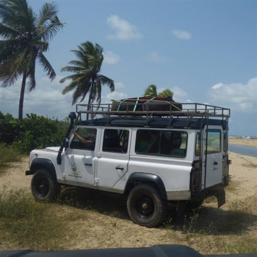 Extrempiste mit Land Rover
